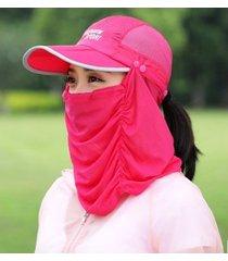 nuevo protector solar exterior femenino sombrero para el sol rosa