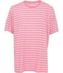 camiseta gap listrada rosa/azul - kanui