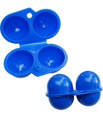 5pcs carry 2 eggs container holder storage box case folding portable plastic