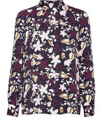 blouse, stand up collar, long sleev blouse lange mouwen multi/patroon marc o'polo