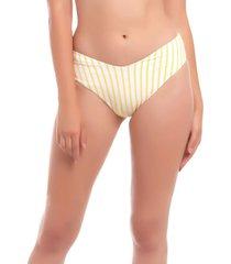 bikini tanga alto lineas amarillas samia