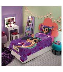 jogo de cama infantil menina lepper clube da anittinha com 3 peças
