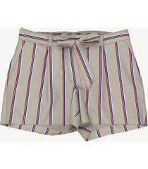 tommy hilfiger women's essential belted stripe short birch - 14