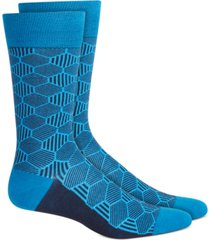 alfani men's geo line socks, created for macy's