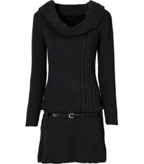 abito in maglia con cintura (nero) - bodyflirt