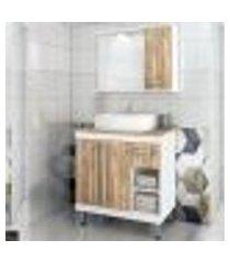 conjunto para banheiro marrom lilies móveis