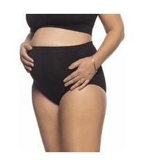 calcinha tanga maternity sem costura preta