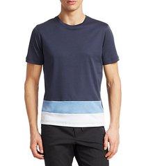 modern short sleeve colorblock t-shirt