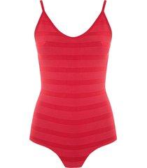 andrea bogosian pencil knit bodysuit - red
