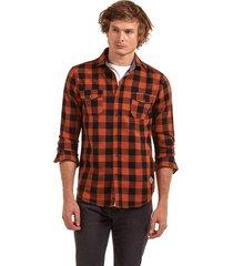 camisa manga larga checkered vermont café ferouch
