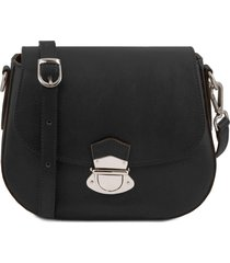 tuscany leather tl141517 tl neoclassic - borsa a tracolla in pelle nero