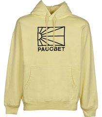 paccbet cotton logo hoodie knit