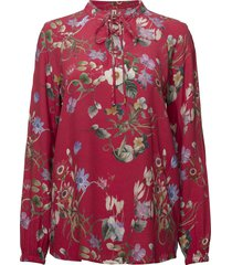 blouse-woven blus långärmad röd imitz