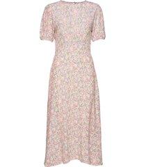 beline midi dress maxi dress galajurk roze faithfull the brand