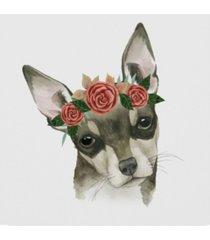 "grace popp flower crown pup iii canvas art - 27"" x 33"""