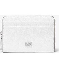 mk portafoglio piccolo in pelle martellata - bianco ottico (bianco) - michael kors