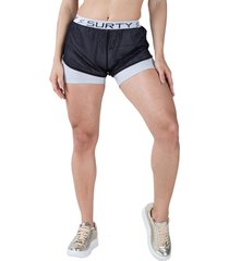 short surty loose fit cinza