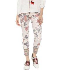 pantalón desigual crudo - calce skinny