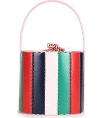 bolsa drawstring cesta de verduras solo hombro bolsa cuchara diagonal banda rainbow moda