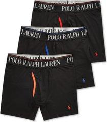 polo ralph lauren men's 3-pk. 4-d flex cool microfiber boxer briefs