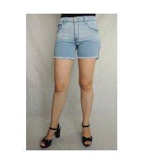 shorts feminino arbítrio hot pants azul jeans