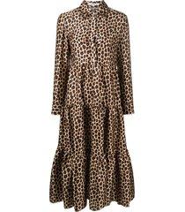 vivetta animal-print shirt dress - brown