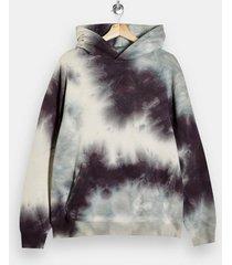 mens multi lilac and ecru grey tie dye hoodie