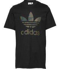 camo infill tee t-shirts short-sleeved svart adidas originals