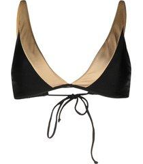 pq swim bikini top - black