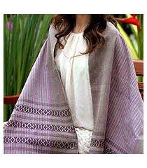 cotton shawl, 'twilight symphony' (thailand)