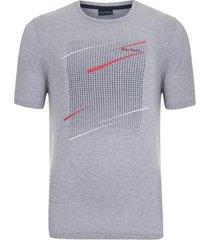 camiseta estampada cinza colors - kanui