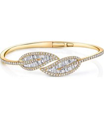 baguette diamond leaf bracelet