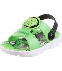 sandalia verde marvel hulk