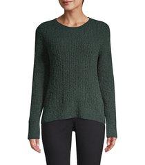 donna karan women's boucle knit sweater - black - size xl