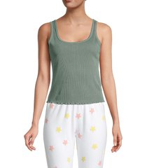 wildfox women's ribbed cotton-blend tank top - pigment - size xs