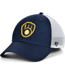 '47 brand women's milwaukee brewers branson glitta trucker cap