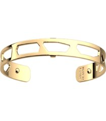 les georgettes by altesse silver-tone exotic spots extra-thin cuff girafe bracelet, 8mm, 0.3in