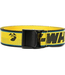 off-white woman yellow new logo industrial belt with multicolor profiles