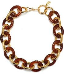 mirrored sea necklace in tortoise