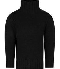 bonpoint black sweater for girl