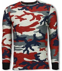 sweater tony backer army zipped back long fit camo