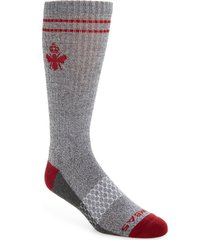 men's bombas burchar socks, size large - red