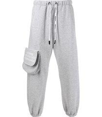 duoltd duoltd jersey long track pants - grey