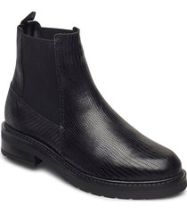 jemma lizard wool shoes chelsea boots svart pavement