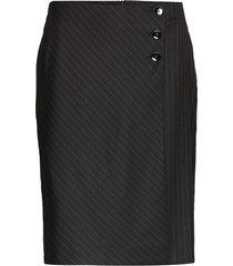 skirt short woven fa knälång kjol svart gerry weber