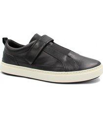 sapatênis zariff shoes em couro elastano preto