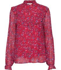 maria blus långärmad röd custommade
