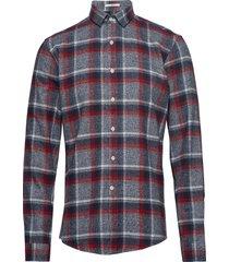 checked flannel shirt l/s skjorta casual grå lindbergh