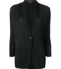 antonelli v-neck pleated blazer - black