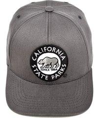 boné krew snapback california state parks cinza - kanui